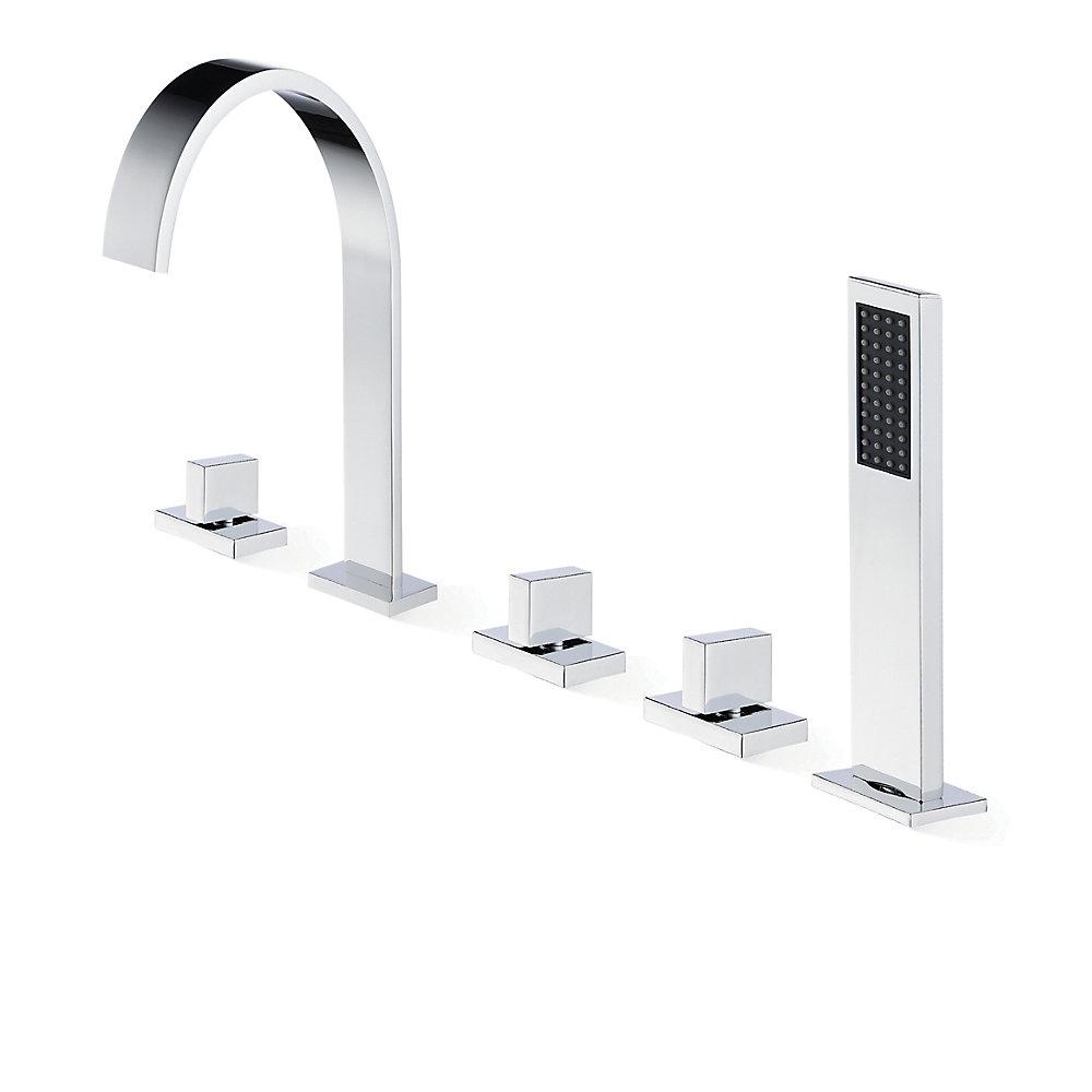 Bathtub Faucet.Klara Chrome Deck Mounted Bathtub Faucet