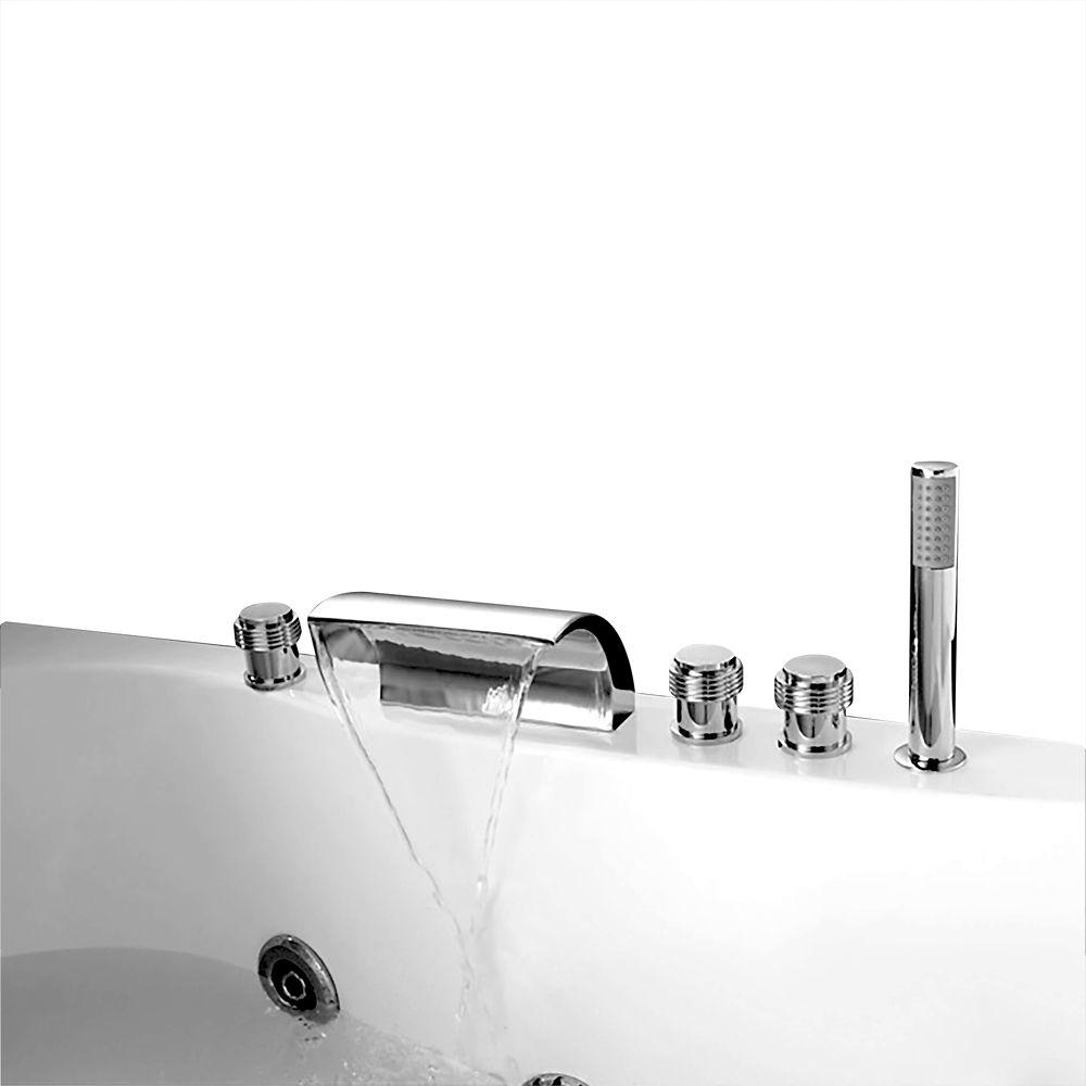 Jade Bath Celeste Chrome Deck-Mounted Bathtub Faucet
