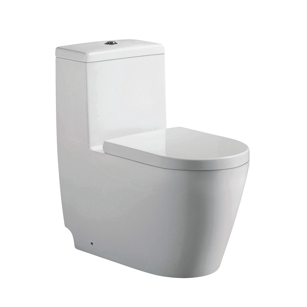 Jade Bath Giselle 1-Piece 3.3/4.8 LPF Dual Top-Mount Flush Elongated Comfort Height Toilet in White