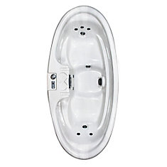 St. Augustine 2-Person Plug and Play 8-Jet Spa with Dual-Level Seating and Hard Cover