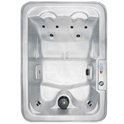Qca Spas Marco 4-Person Plug and Play 10-Jet Spa with Ozonator, LED Light, Polar Insulation and Hard Cover