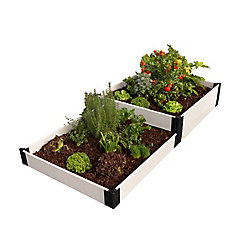 Frame It All Classic White Raised Garden Bed Terraced 4 ft. x 8 ft. x 16 inch