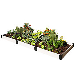 Frame It All Classic White Raised Garden Bed 4 ft. x 12 ft. x 8 inch 1 inch profile