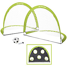 2 Pack Pop Up Soccer Goal And Ball Set