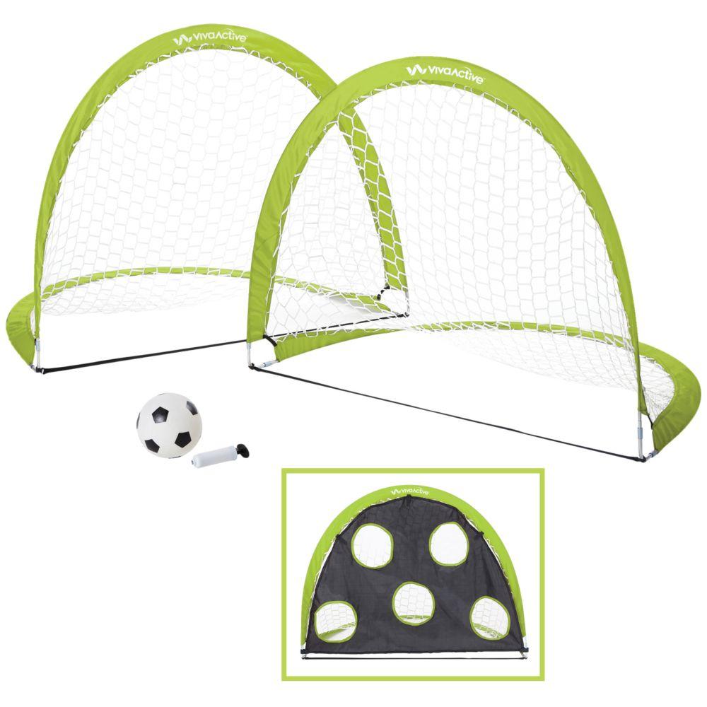 VIVA ACTIVE 2 Pack Pop Up Soccer Goal And Ball Set