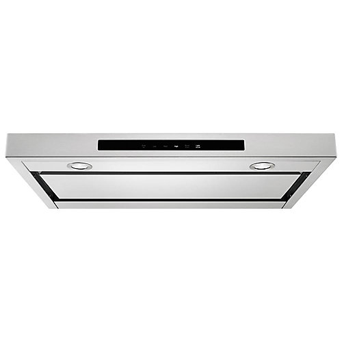 30-inch Low Profile Under Cabinet Ventilation Range Hood with Lights in Stainless Steel