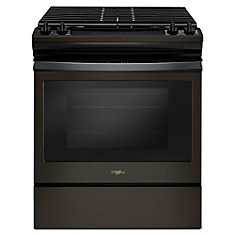 5.0 cu. ft. Gas Range with Cast-Iron Grates in Fingerprint Resistant Black Stainless Steel
