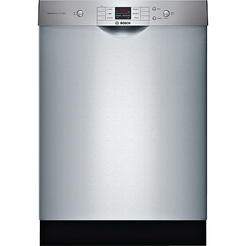 Série 100  Lave-vaisselle de 24 po avec poignée encastrée  50 dBA  Inox anti-traces de doigts