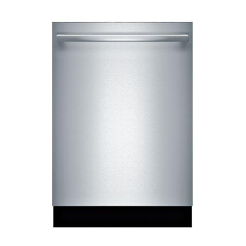 Bosch Série 100  Lave-vaisselle de 24 po avec poignée saillante  48 dBA  3e panier standard