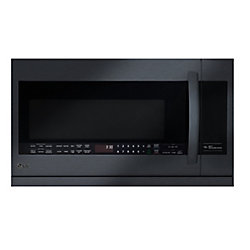 LG Electronics 2.2 cu. ft. Over-the-Range Microwave with Slide-Out ExtendaVent in Matte Black Stainless Steel