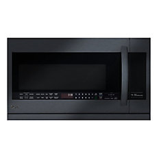 2.2 cu. ft. Over-the-Range Microwave with Slide-Out ExtendaVent in Matte Black Stainless Steel