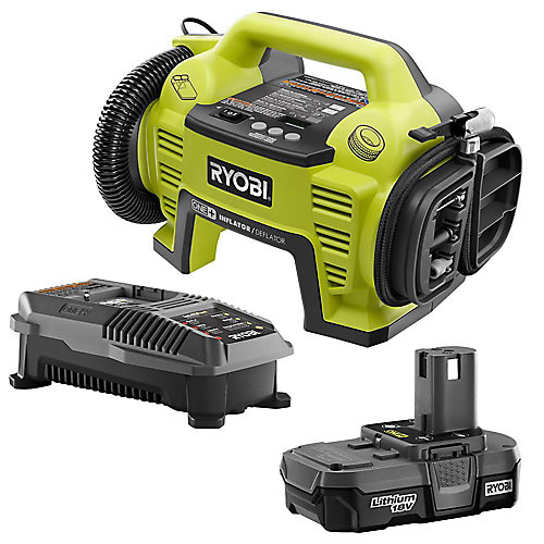 18V ONE+ Lithium-Ion Cordless Dual Function Inflator/Deflator with (1) 1.3 Ah Battery
