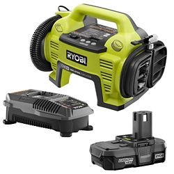 RYOBI 18V ONE+ Lithium-Ion Cordless Dual Function Inflator/Deflator with (1) 1.3 Ah Battery