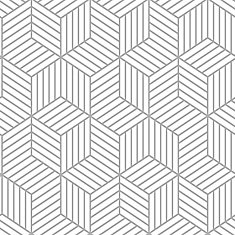 Stripped Hexagon White/Grey Peel & Stick Wallpaper