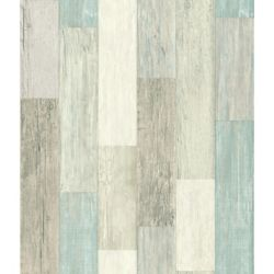 RoomMates papier peint adhésif planches usées