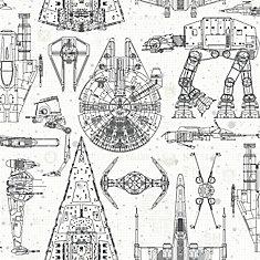 Star Wars Blueprint Peel & Stick Wallpaper
