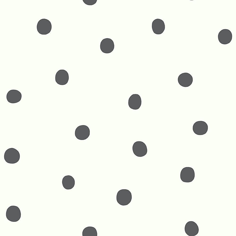 papier peint adhésif pois noirs