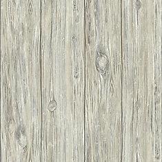 Grey Mushroom Wood Peel & Stick Wallpaper