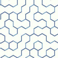 RoomMates papier peint adhésif geométrique ouvert bleu
