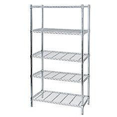 5 Shelf Chrome Storage Unit