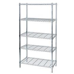 Hardware Machinery 5 Shelf Chrome Storage Unit