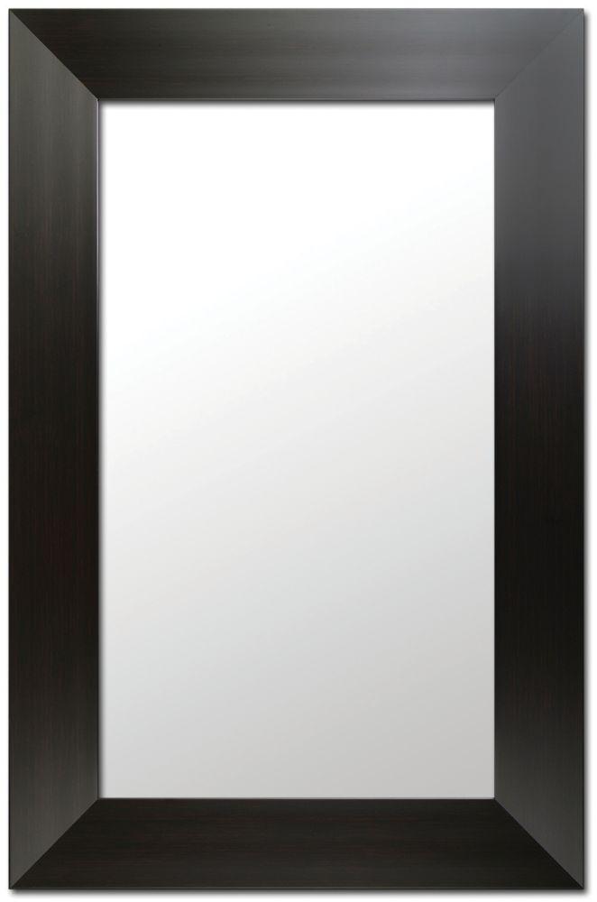 Mirrorize Canada 26.5X37.5 Deep Espresso Finish, Ready to Hang