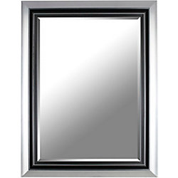 Mirrorize Canada 26X34 Gray industrial Mirror Ready to Hang