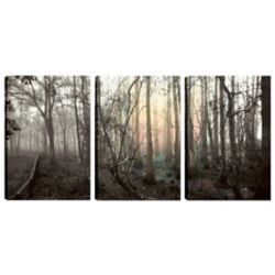 Art Maison Canada 18X12 Landscape Photography Thin Branches Canvas Wall Art, Ready to Hang, (Set of 3)