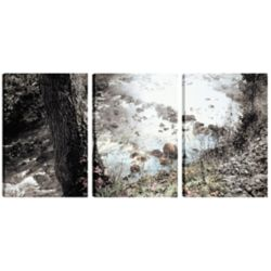 Art Maison Canada 18 x 12 paysage photographie de the River Art mur de toile, prête à accrocher, jeu de 3