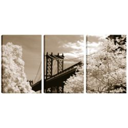 Art Maison Canada 18X12 Landscape Photography Sky Bridge Canvas Wall Art Ready to Hang, (Set of 3)