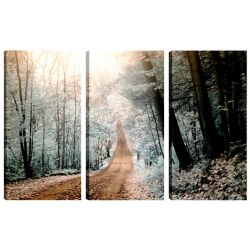 Art Maison Canada 24X12 Landscape Photography the Trail II Canvas Wall Art Ready to Hang, (Set of 3)