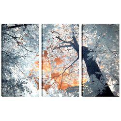Art Maison Canada 24 x 12 paysage photographie arbres III Art mur de toile prête à accrocher, jeu de 3