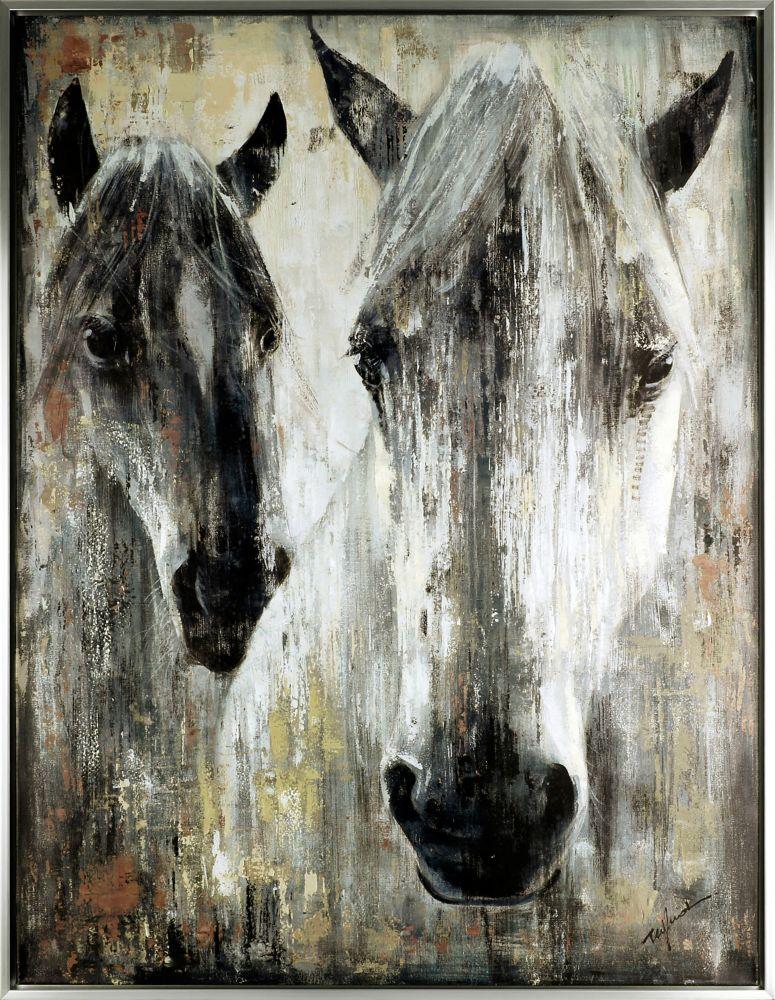 Art Maison Canada the Pair, Animal Art, Framed Acrylic Canvas Art Décor 36.5X48.5X1.5 Ready to Hang