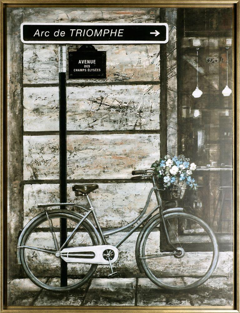 Art Maison Canada the Bicycle IV, Framed Acrylic on Canvas Art