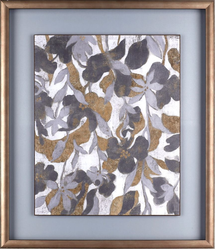 Art Maison Canada Painted Tropical Screen II, Floral Art, Print on Paper, Laminated