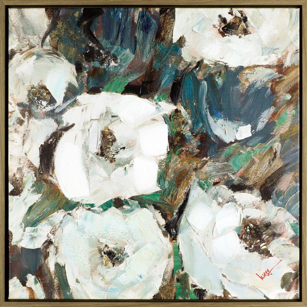 Art Maison Canada Floral Charm I, Floral Art, Acrylic on Canvas Art