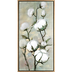 Art Maison Canada Cotton Floral II, Floral Art, Acrylic on Canvas Art