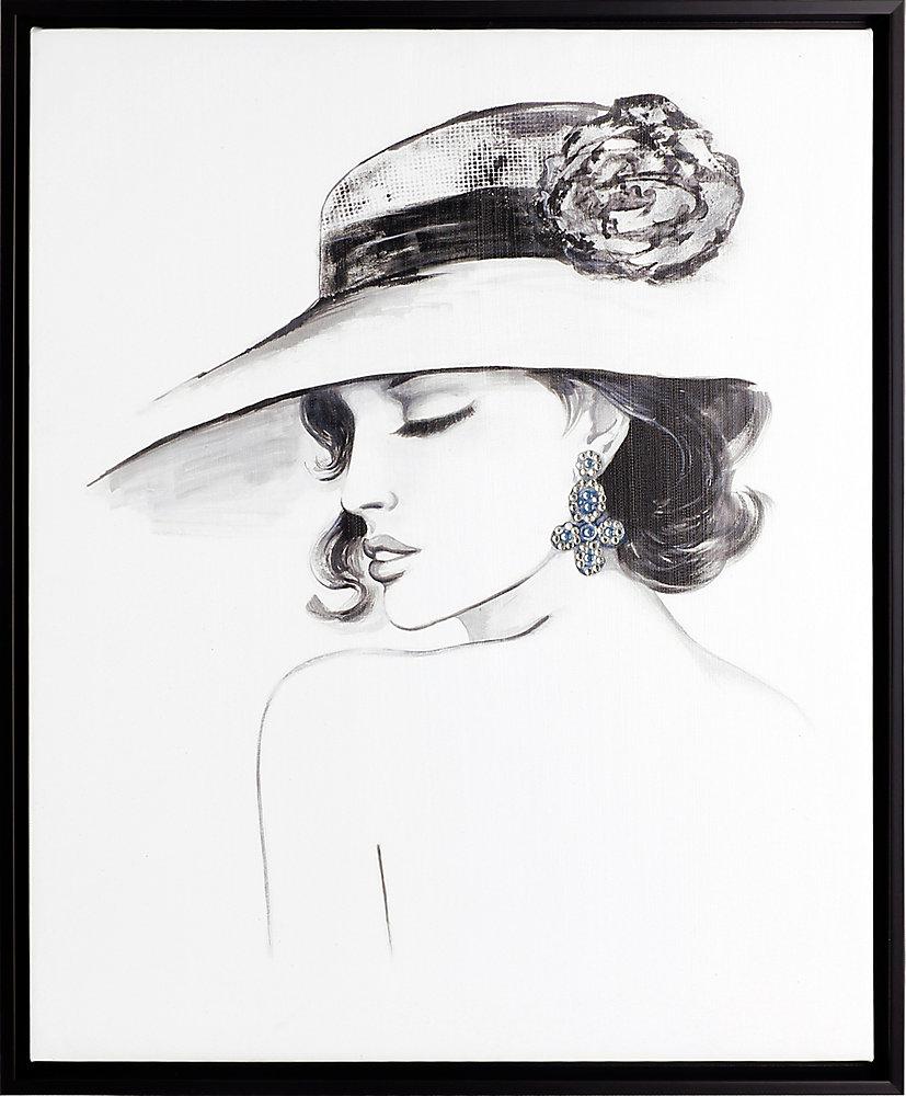Elegance II, Portrait Art, Canvas Print, Art