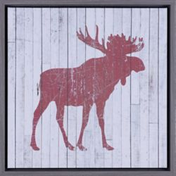 Art Maison Canada Moose rouge j'ai, Natural Art, impression toile, Art