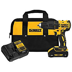 20V MAX Li-Ion Cordless Brushless 1/2-inch Compact Hammer Drill w/ (1) Battery 3.0Ah, Charger & Tool Bag