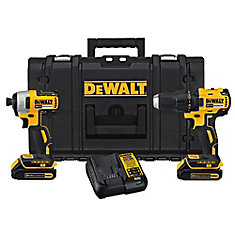 20V MAX Lithium-Ion Cordless Combo Kit (2-Tool) with (2) Batteries, Charger & Tough Case