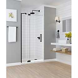 Aston Madox 36 inch to 42 inch x 74.875 inch Frameless Pivot Shower Door in Oil Rubbed Bronze
