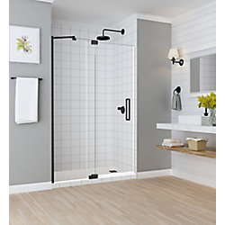 Aston Madox 48 inch to 54 inch x 74.875 inch Frameless Pivot Shower Door in Oil Rubbed Bronze