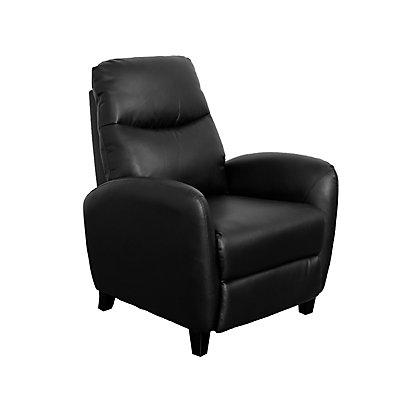 Brilliant Ava Black Bonded Leather Recliner Pdpeps Interior Chair Design Pdpepsorg