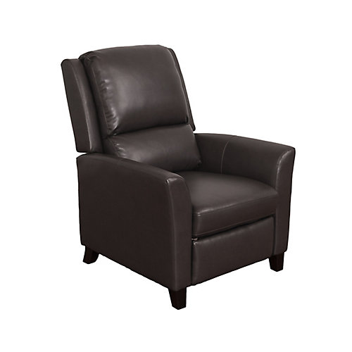 Kate Brownish-Grey Bonded Leather Recliner