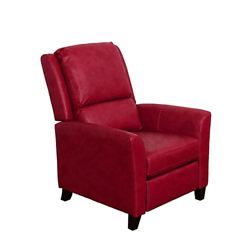 Kate Red Bonded Leather Recliner