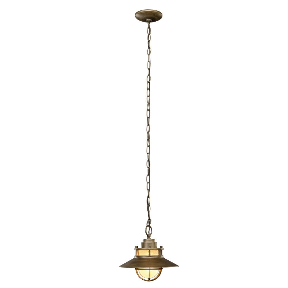 Globe Electric Liam 1-Light Bronze Outdoor Pendant