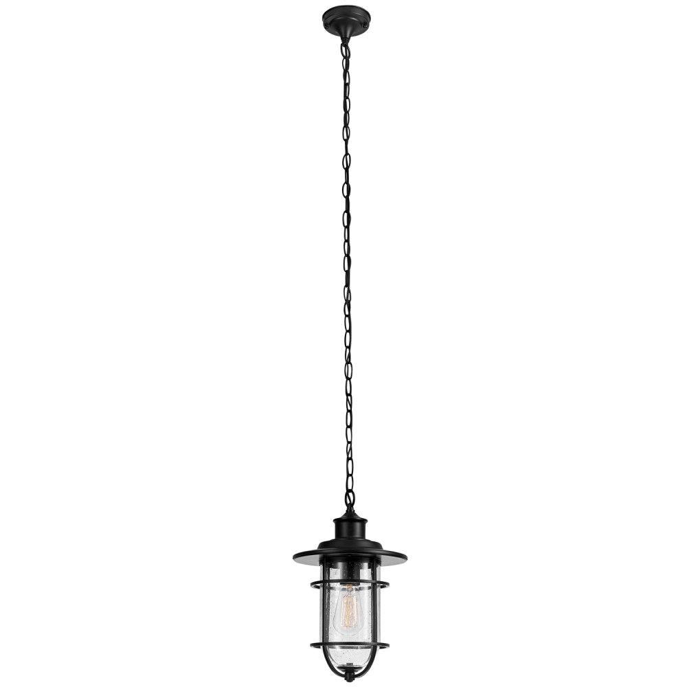 Globe Electric Turner 1-Light Black Outdoor Pendant