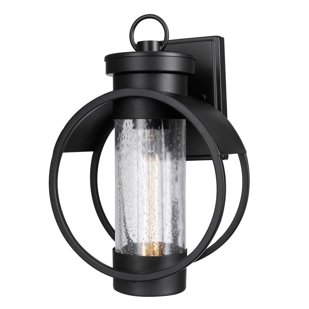 Globe Electric Balvin 1-Light Matte Black Outdoor Wall Sconce