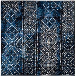 Safavieh Adirondack Carlie Silver / Black 6 ft. x 6 ft. Indoor Square Area Rug